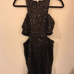 Express sparkly dress with cutouts